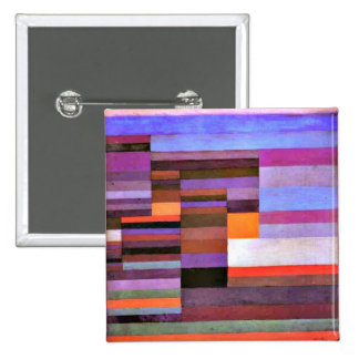 Klee - Fire Evening 15 Cm Square Badge