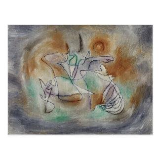 Klee - Howling Dog Postcard