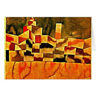 Klee - Oriental Architecture Card