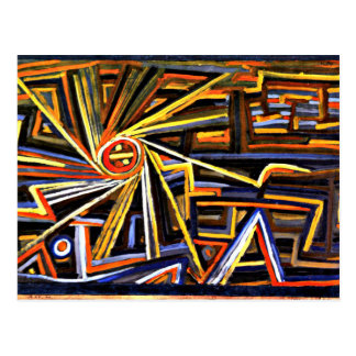 Klee - Radiation and Rotation Postcard
