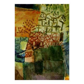 Klee: Remembrance of a Garden Poster