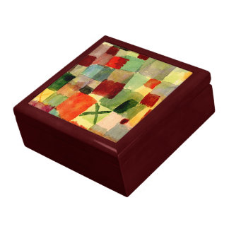Klee - Watercolor with Dark Green Cross Large Square Gift Box