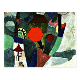 Klee - With the Setting Sun Postcard