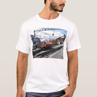 Kleine Scheidegg railway station in Switzerland T-Shirt