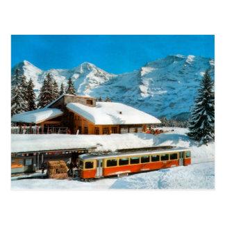 Kleiner Scheidegg station, Jungfrau Postcard