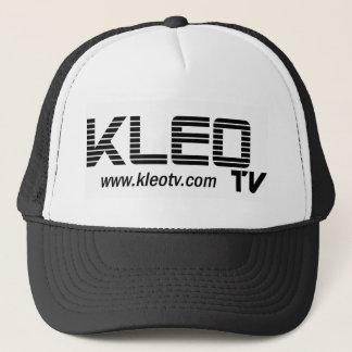 KLEO TV white logo Web Trucker Hat