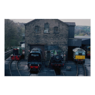 Klieghley and Worth Valley Preserved Railway, Hawo Poster
