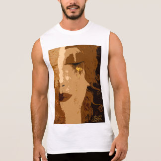 Klimt art Cotton Sleeveless T-Shirt