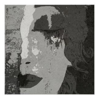 Klimt art Monochrome Poster Paper (Semi-Gloss)