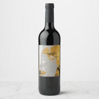 """Klimt art (or Champagne) Bottle Label (4"""" x 3.5"""")"""