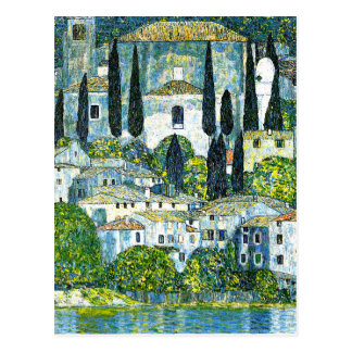 Klimt - Church in Cassone Postcard