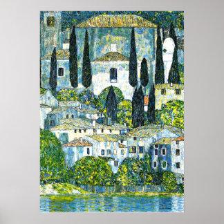 Klimt - Church in Cassone Poster