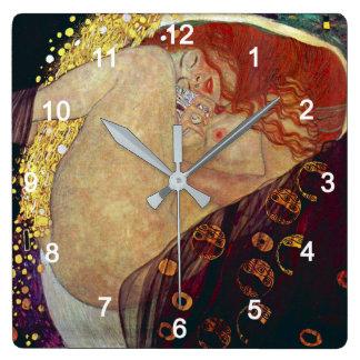 "Klimt ""Danae"" Square Wall Clock"