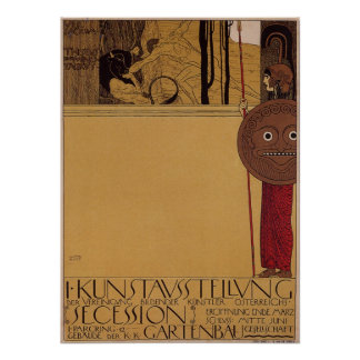 Klimt ~ first exhibition of Secession Poster