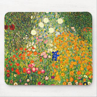 Klimt: Flower Garden Mouse Pad