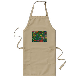Klimt flowers in grass long apron