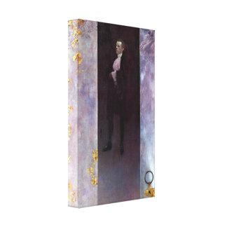 Klimt - Hofburg actor Josef Lewinsky as Carlos Canvas Print