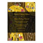 Klimt Inspired Art Nouveau Chic The Kiss Wedding 13 Cm X 18 Cm Invitation Card