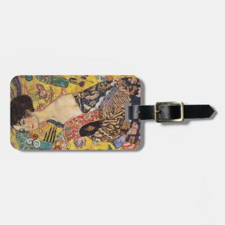 Klimt Lady with Fan Fine Art Luggage Tag
