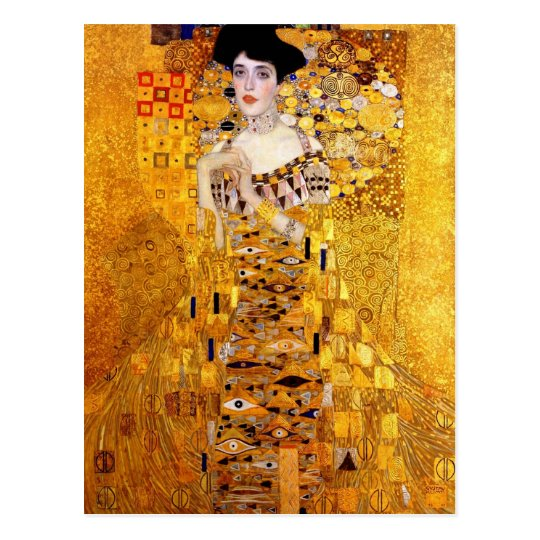 klimt portrait of adele bloch bauer i post card. Black Bedroom Furniture Sets. Home Design Ideas