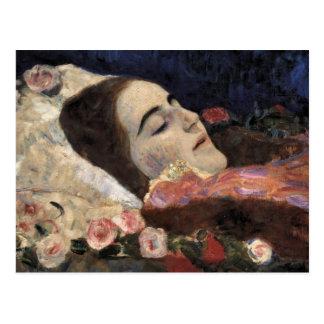 Klimt Ria Munk On Her Deathbed Postcard