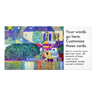 Klimt St Wolfgang church in Unterach on Lake Atter Picture Card