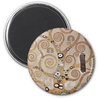Klimt -  Stocletfries 6 Cm Round Magnet