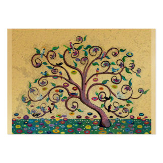 Klimt style tree large business cards (Pack of 100)