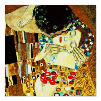 Klimt - The Kiss (closeup), Gustav Klimt painting