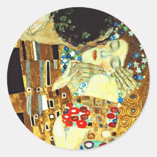 Klimt - The Kiss Round Sticker