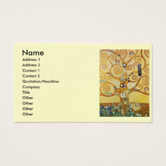 Klimt Tree of Life Business Card