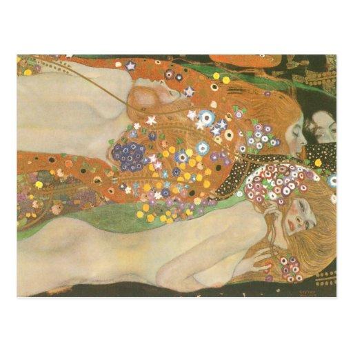 Klimt ~ Wasserschlangen (Freundinnen) II Post Card