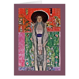 Klimt's Adele Bloch-Bauer in a  Big Hat Card