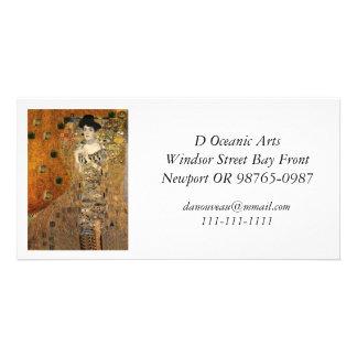 Klimt's Portrait Adele Bloch-Bauer Personalised Photo Card