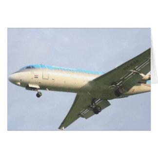 Klm Plane Greeting Card