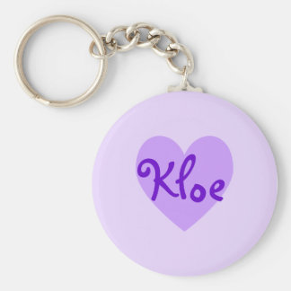 Kloe in Purple Basic Round Button Key Ring