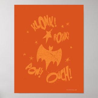 KLONK POW Bat Symbol Graphic Print