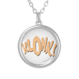 KLONK! SILVER PLATED NECKLACE