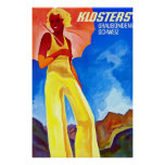 Klosters ~ Vintage Swiss Travel Poster