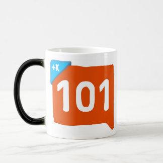 Klout 101 morphing mug