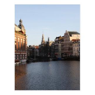 Kloveniersburgwal, Amsterdam Postcard