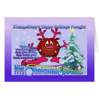 Klumpsidasy's Happy Holidays Thought Greeting Card
