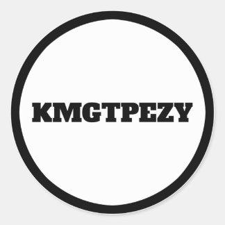 KMGTPEZY CLASSIC ROUND STICKER