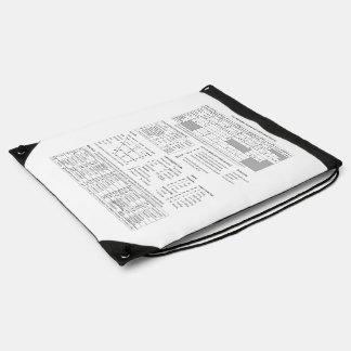Knapsack of international audio sign IPA Drawstring Bag