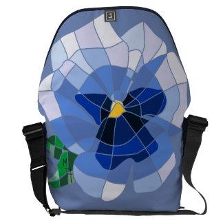 Knapsack - Stock market Violet Vitral Messenger Bag