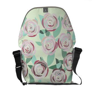 Knapsack Stock market Vitral Rosa Rose stained Messenger Bag