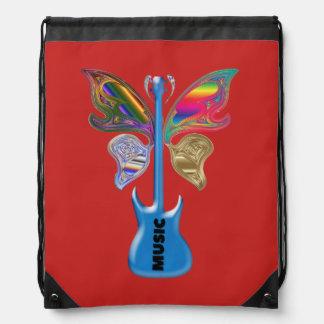Knapsack with cord drawstring bag