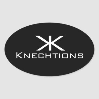 Knechtions Stuck Oval Sticker