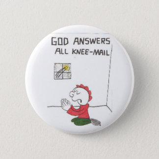 knee-mail = Funny church sayings 6 Cm Round Badge