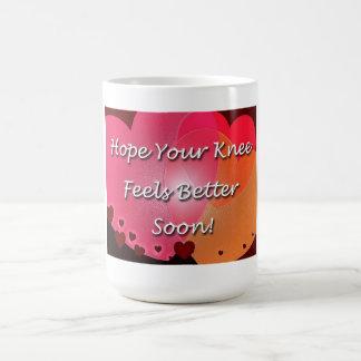 Knee Surgery Get Well Soon Hearts Coffee Mug
